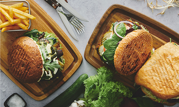 Burger og Sandwich Menu